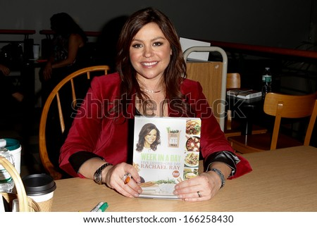 "HUNTINGTON, NY-DEC 4: Chef Rachael Ray signs her new book ""Week In A Day"" at Book Revue on December 4, 2013 in Huntington, NY."
