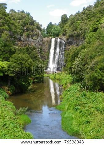 Hunua Falls near Auckland, New Zealand - stock photo