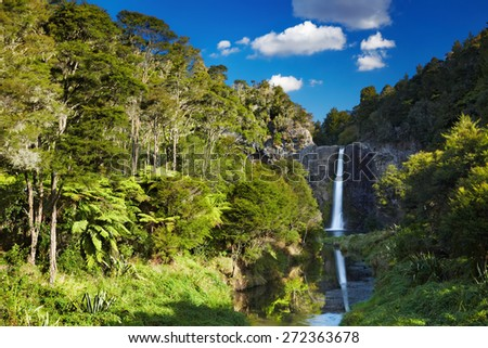 Hunua Falls, North Island, New Zealand - stock photo