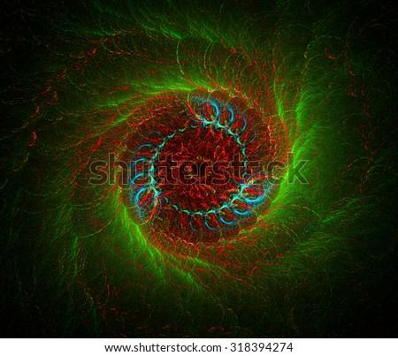 Hurricane Eye abstract illustration - stock photo