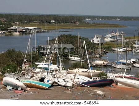 Hurricane Katrina 27 - stock photo