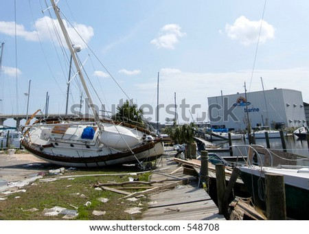 Hurricane Katrina 5 - stock photo
