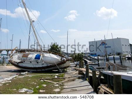 Hurricane Katrina 5 - stock photo