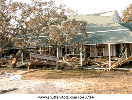 Hurricane Katrina 10 - stock photo