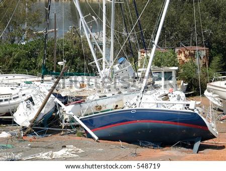 Hurricane Katrina 13 - stock photo
