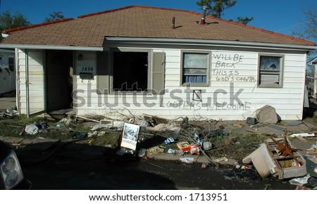 Hurricane Katrina One Year Later - stock photo