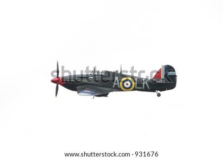 Hurricane World War 2 Fighter aircraft - stock photo