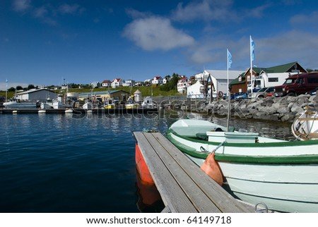Husavik harbor, Icelandic whale watching tourist destination