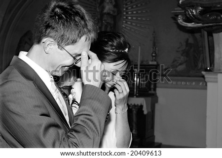 husband and wife in the marriage ceremony