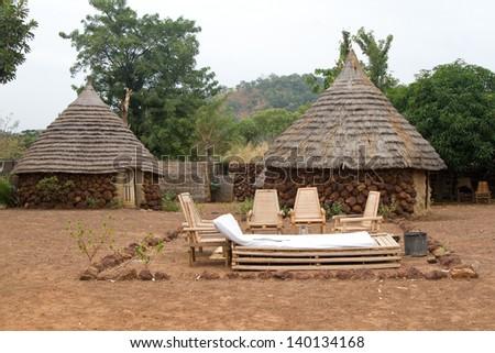 Hut Campament Senegal Africa Travel - stock photo