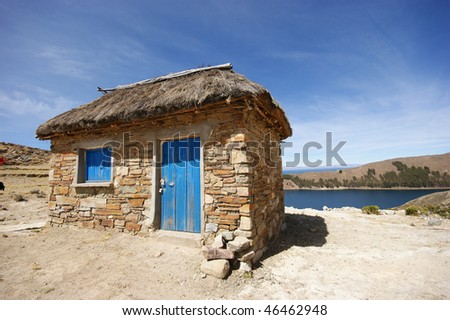 hut isla del sol - stock photo