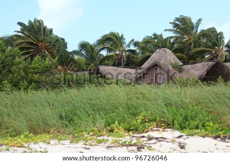 Hut on the island of Cayo Guillermo. Cuba.