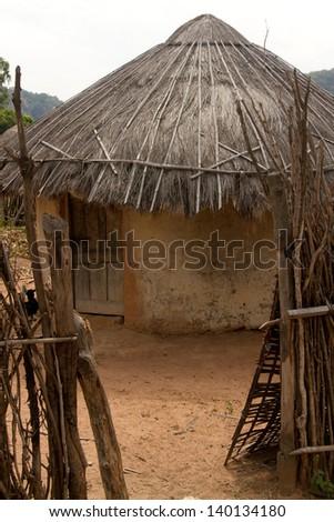Hut  Senegal Africa Travel - stock photo