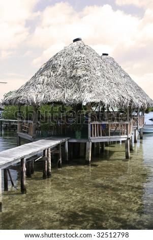 Huts in Panama - stock photo