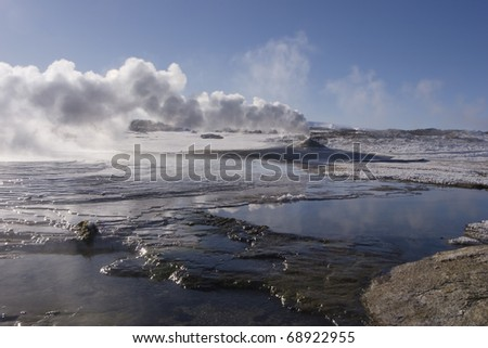 Hveravellir oasis the highlands - stock photo