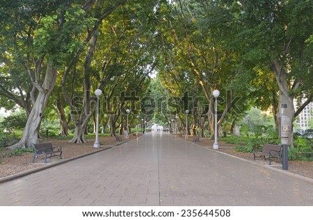 Hyde Park, Sydney Australia - stock photo