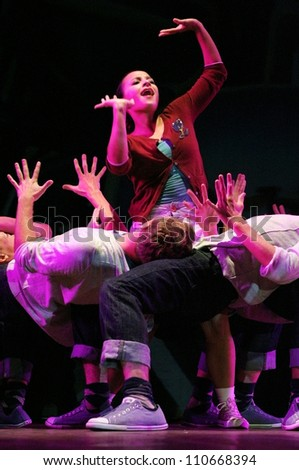 stock photo hyderabad ap india july the theatre group of brigham young university usa performs the rhythm 110668394 reddees'nin shutterstock �zerindeki portf�y�  at readyjetset.co