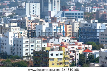 Hyderabad, INDIA - November 29 : Hyderabad is the fourth most populous city and sixth most populous urban agglomeration in India, on November 29,2015 Hyderabad, India - stock photo