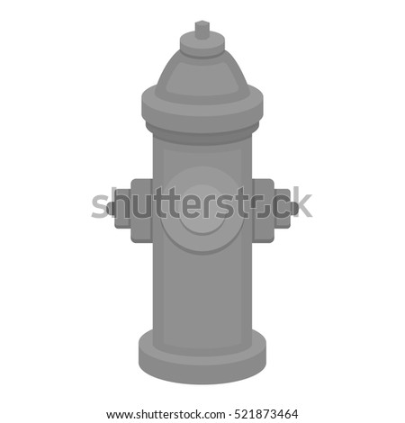 Hydrant bitmap icon in monochrome style for web
