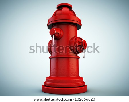 hydrant isolated on blue background