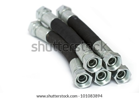 hydraulic hoses - stock photo