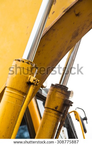 hydraulic system of a digger