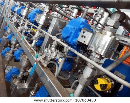 hydraulics - stock photo