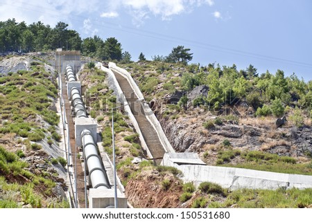 hydro-electric power plant - stock photo