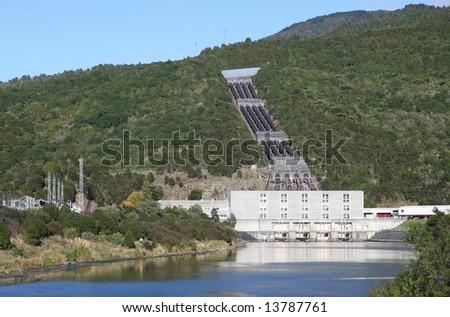 Hydro-Electric Power Station, New Zealand. - stock photo