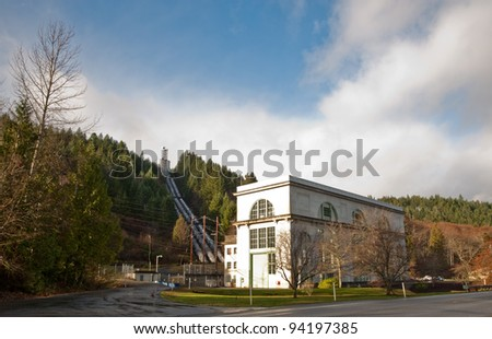 Hydroelectric generator station in WA state