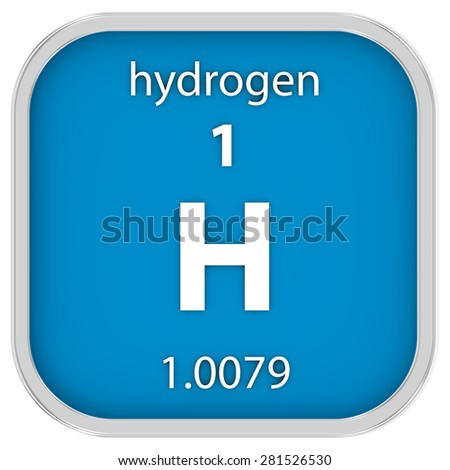 Hydrogen material on the periodic table. Part of a series.