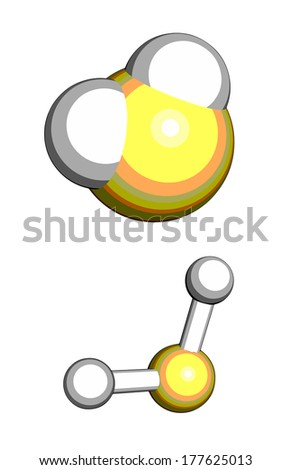 Hydrogen Sulfide H 2 S Toxic Gas Molecule Stock Illustration