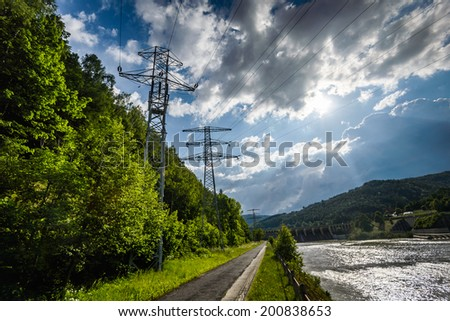 Hydropower-waterdam on Sola river- Porabka , Beskid zywiecki ,Poland