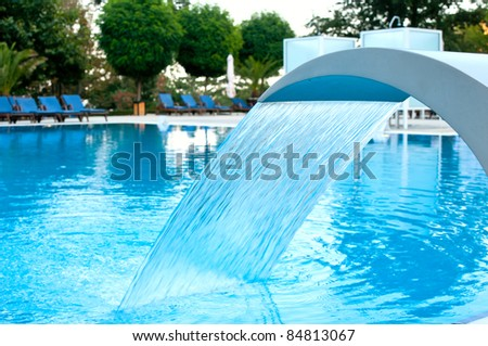 Hydrotherapy waterfall - stock photo