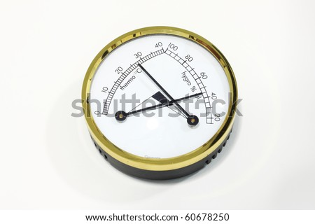 Hygrometer for camera equipment - stock photo