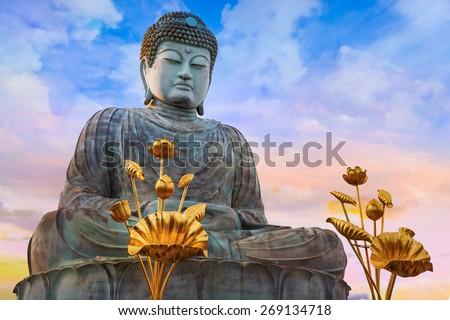 Hyogo Daibutsu - The Great Buddha at Nofukuji Temple in Kobe, Japan  - stock photo
