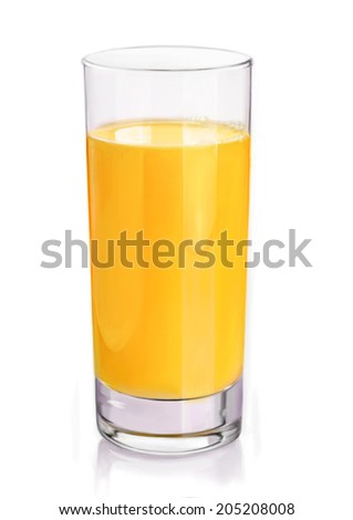 Hyper realistic digital painting of a glass of orange juice.