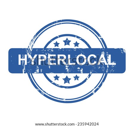 Hyperlocal business concept stamp with stars isolated on a white background. - stock photo