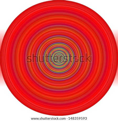 Hypnotic red  circle