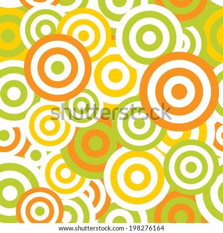 Hypnotic Seamless Pattern Background.  Illustration - stock photo