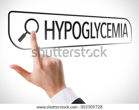 Hypoglycemia written in search bar - stock photo
