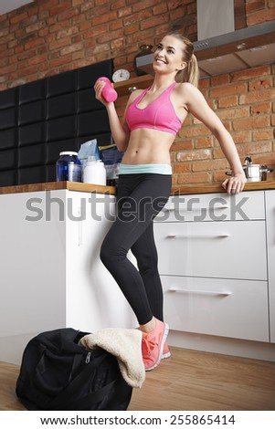 I almost ready for the gym - stock photo