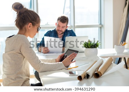 I always stay connected to the project - stock photo