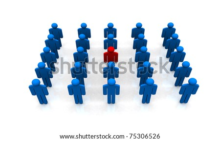 I am DIFFERENT - stock photo