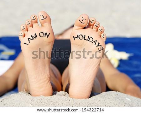 I am on Holidays - stock photo