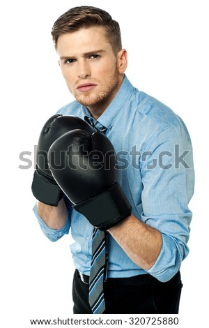 I am ready to make my business win - stock photo