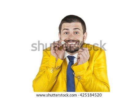 I am very rich, so please silence - stock photo