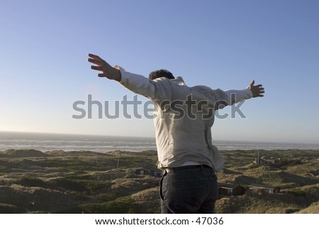 I can fly - stock photo