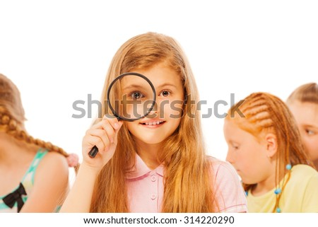 I can see through and find the answer - stock photo