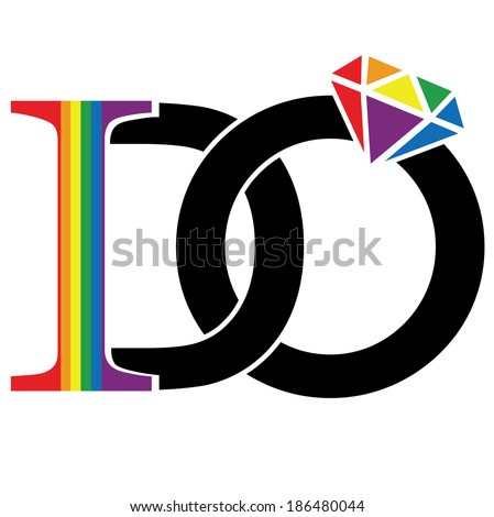 I DO - support marriage equality  - stock photo
